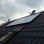 Solar Panele montiert